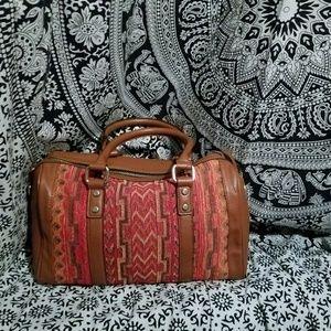 Street Level-Brown/Southwestern Patterned Handbag